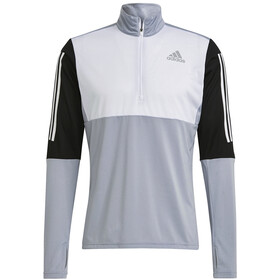 adidas OWN The Run LS 1/2 Zip Shirt Men, halo silver/black/white